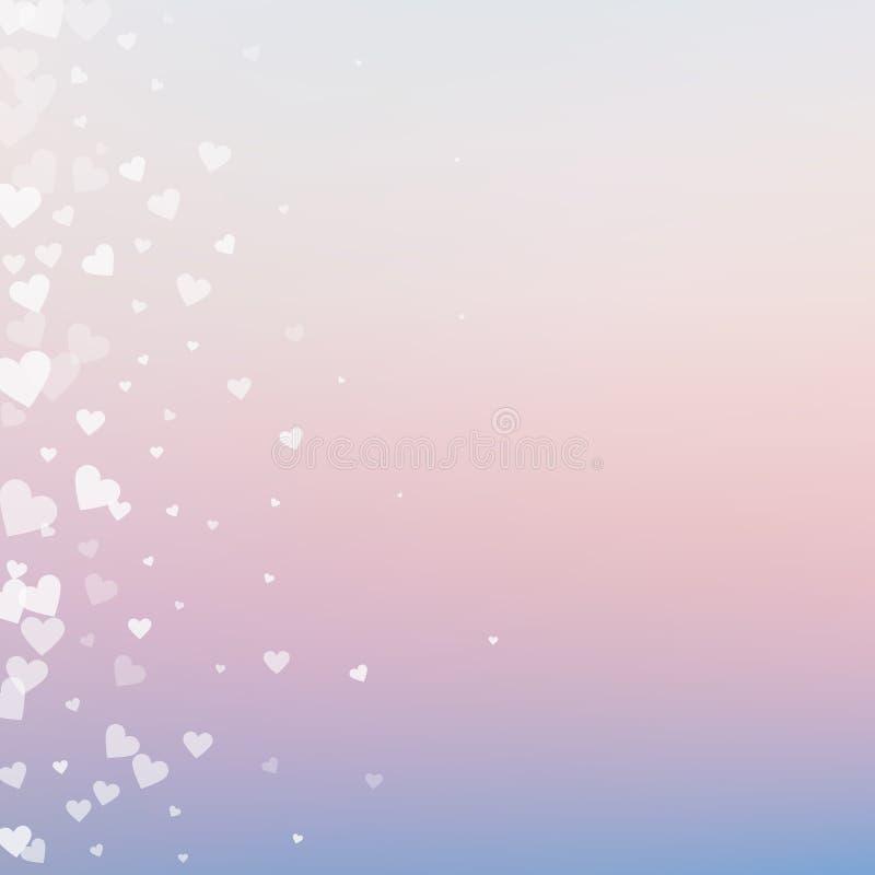 Confettis blancs d'amour de coeur Gradie de Saint-Valentin illustration libre de droits