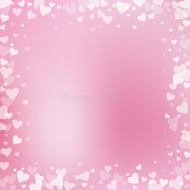 Confettis blancs d'amour de coeur Trame de jour du `s de Valentine illustration libre de droits