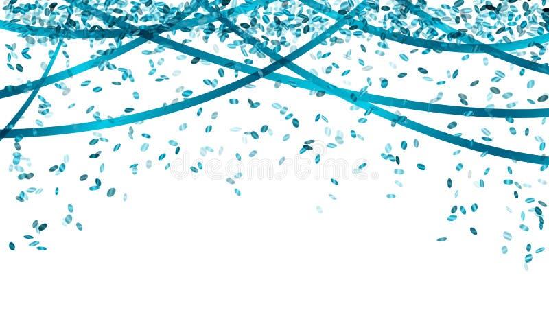 Confettis bleus en baisse illustration de vecteur