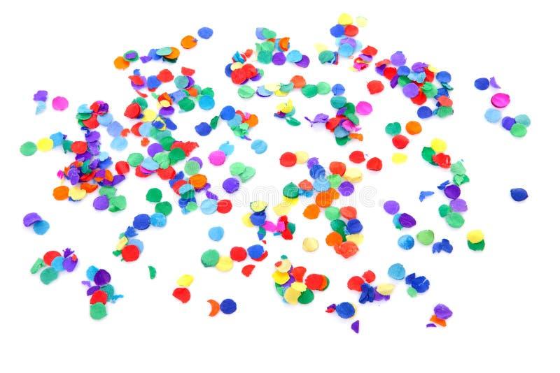 Confettis colorés images stock