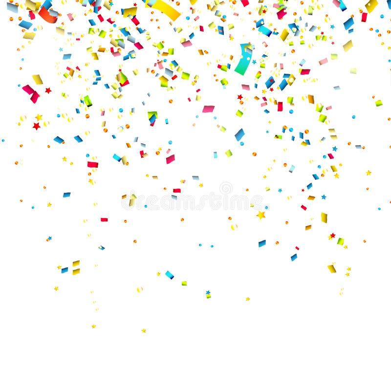 Confettis colorés illustration de vecteur