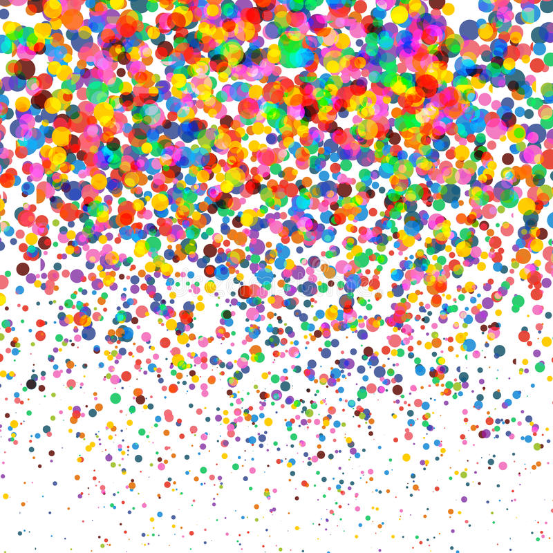 Confettis colorés d'isolement sur le fond carré transparent Noël, anniversaire, concept de fête d'anniversaire confettis illustration de vecteur