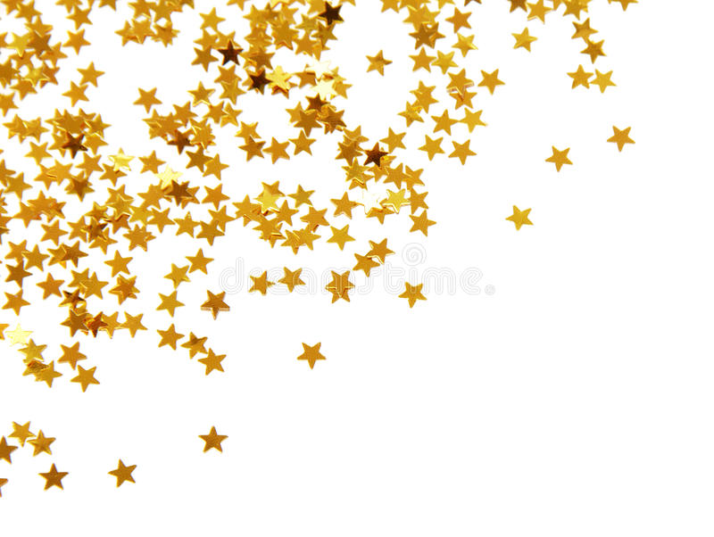 Confettis d'or images stock
