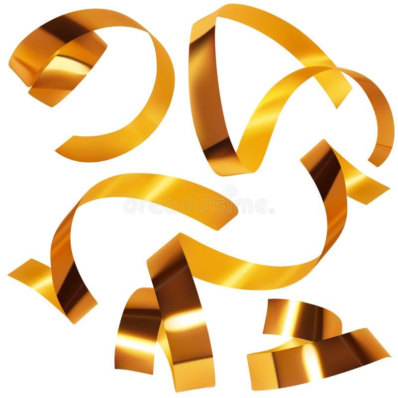 Confettis d'or A illustration libre de droits