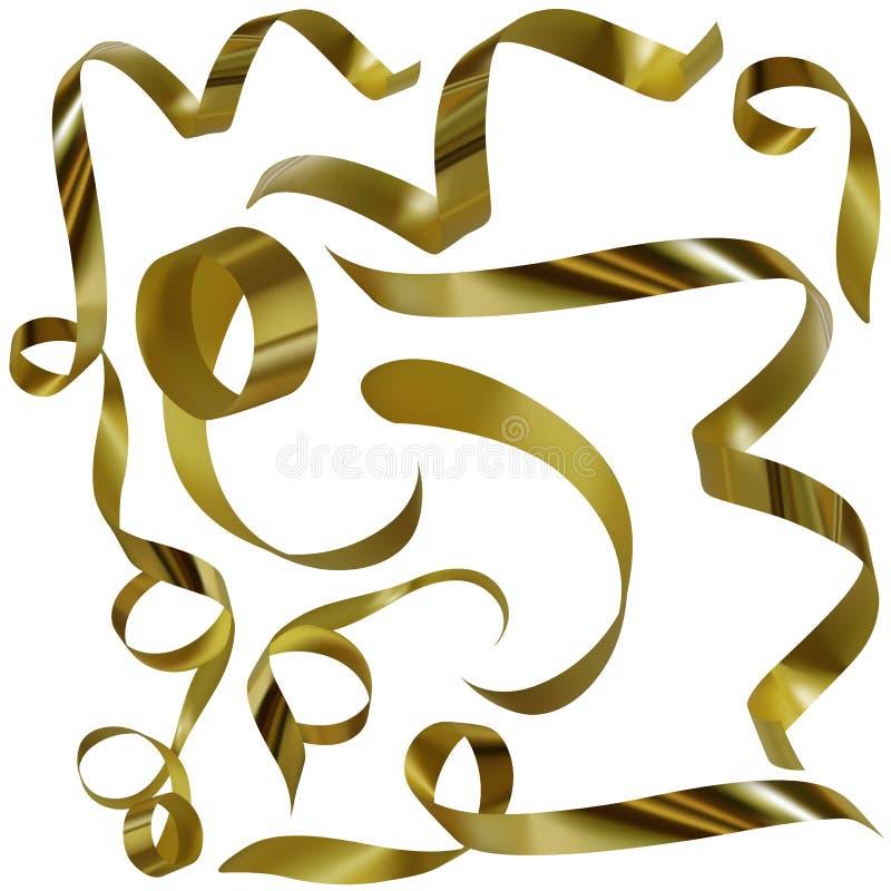 Confettis d'or B illustration stock