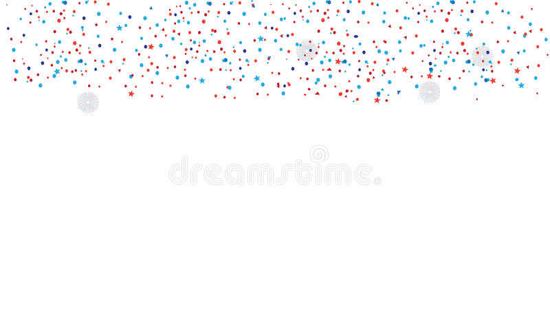 Confettis d'isolement illustration stock