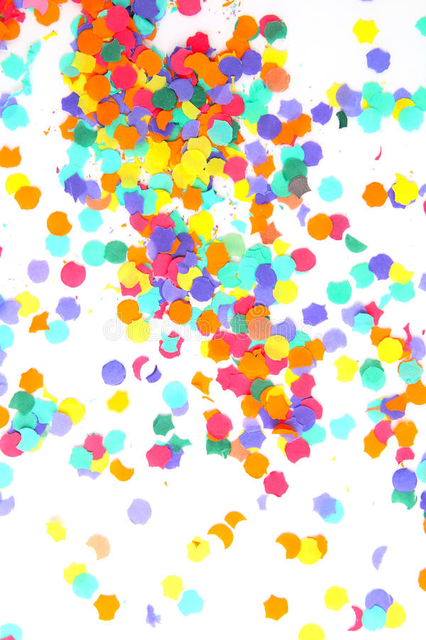 Confettis d'isolement sur le blanc photo stock