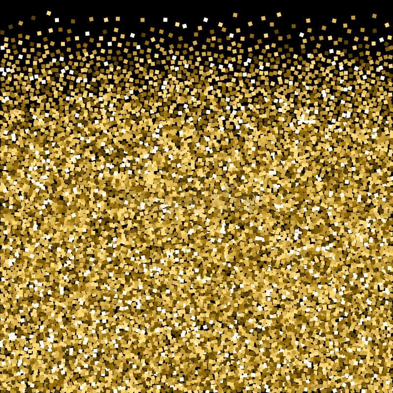 Confettis de scintillement de luxe de scintillement d'or. dispers?  photos stock