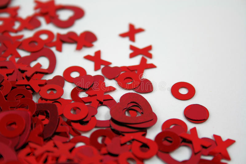 Confettis de Valentines photos stock