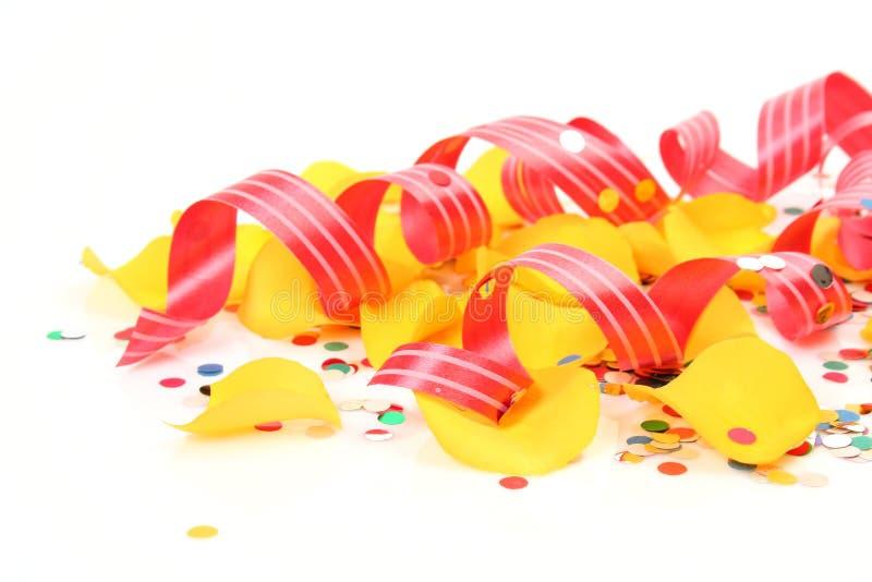 Confettis et flamme photo libre de droits
