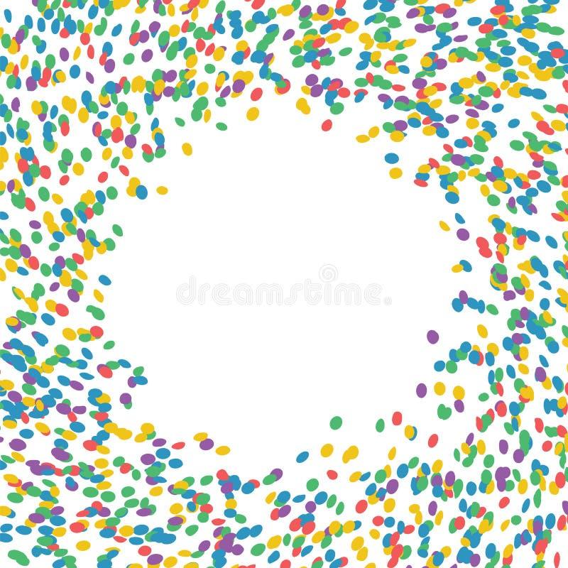 Confettis multicolores Vecteur Carte de voeux pour les vacances illustration stock