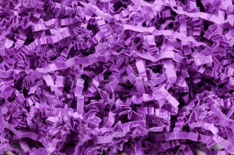 Confettis pourprés photographie stock libre de droits