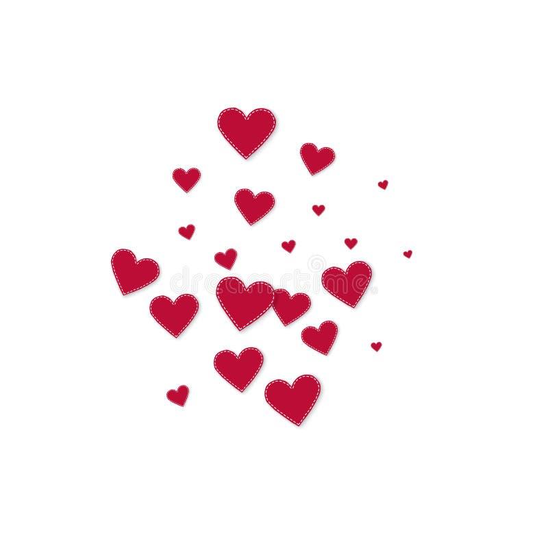 Confettis rouges d'amour de coeur Explosio de Saint-Valentin illustration stock