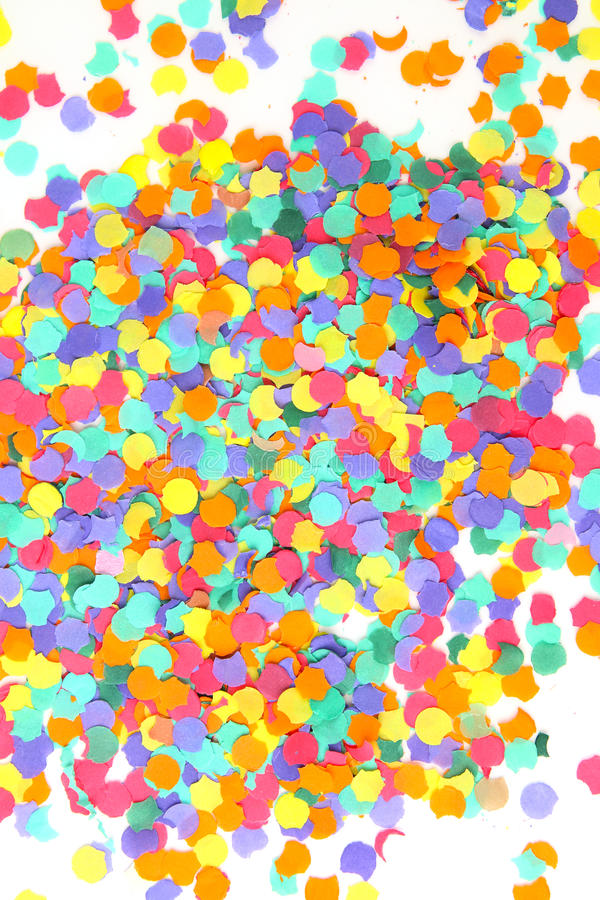 Confettis sur le blanc photos stock