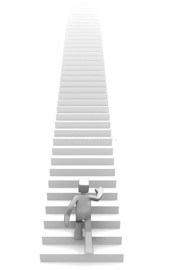 Confiável e destino do conceito do sucesso ilustração stock