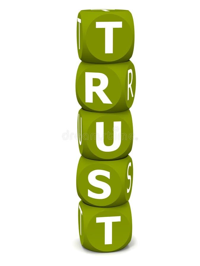 Confiança ilustração royalty free