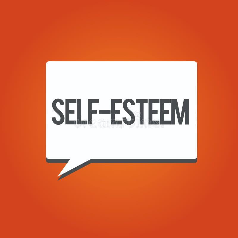 Confiança apresentando da foto do negócio em suas próprias valor ou capacidades pessoal ilustração do vetor
