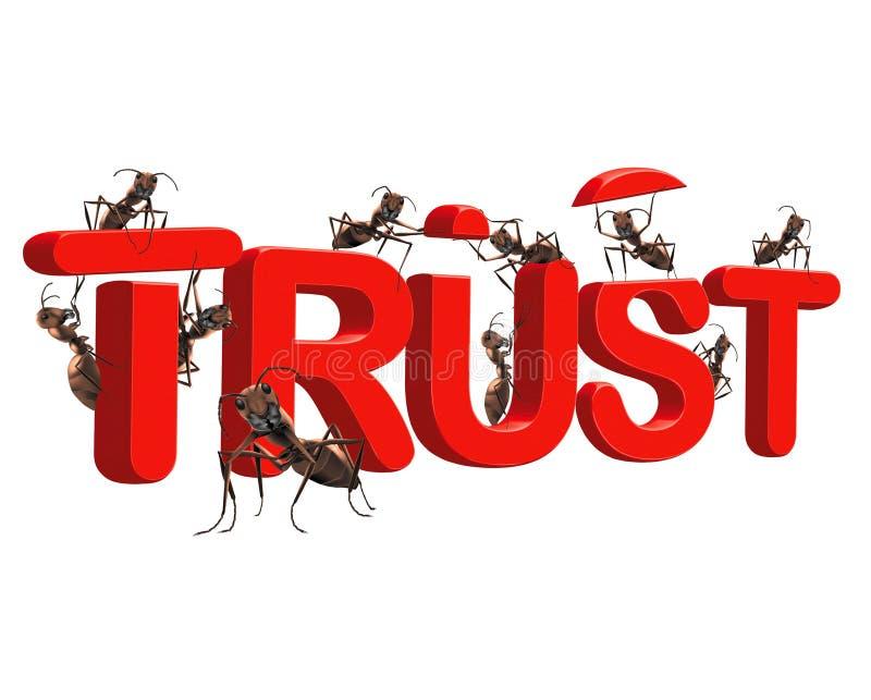 A confiança do edifício esteja confiável na honestidade da qualidade ilustração stock