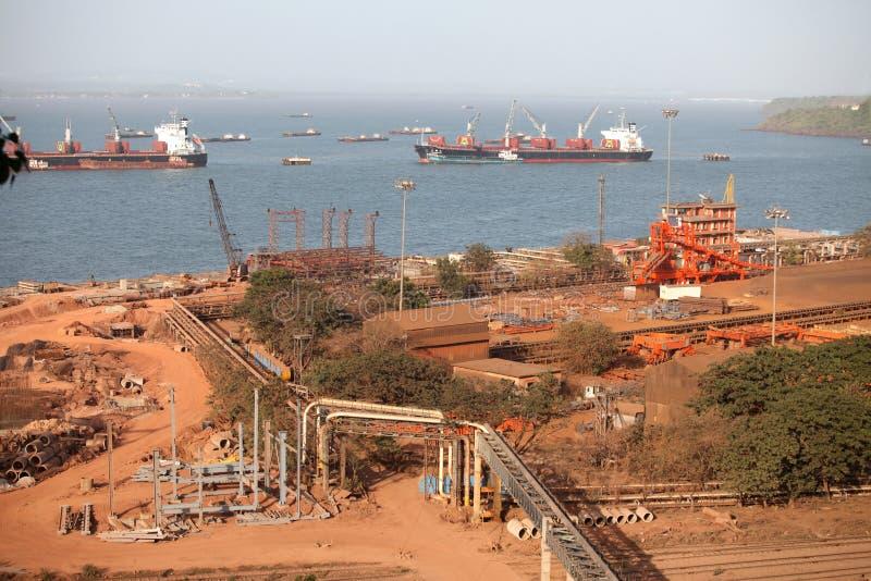 Confiança do porto de Mormugao imagem de stock