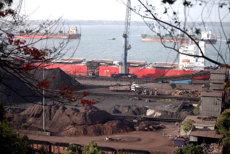 Confiança do porto de Mormugao foto de stock royalty free