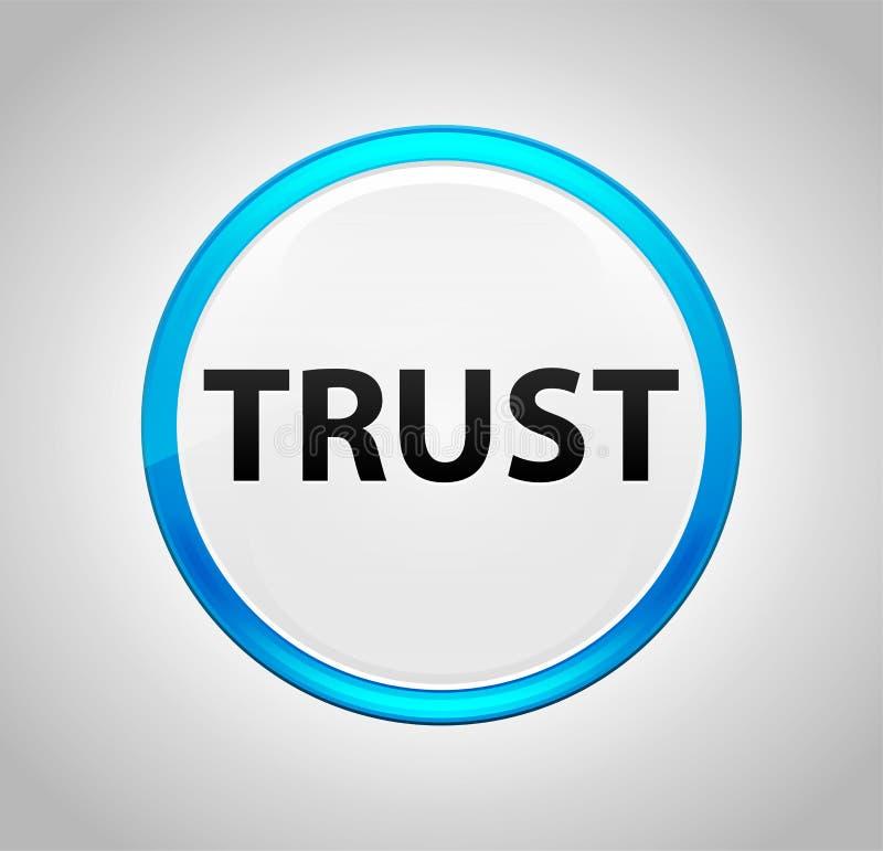 Confiança em volta da tecla azul ilustração stock