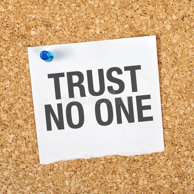 Confiança ninguém imagens de stock