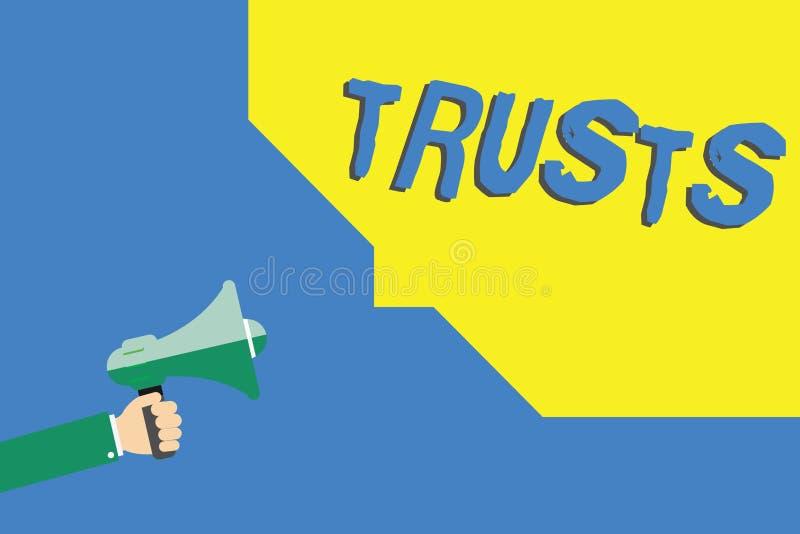 Confianças da escrita do texto da escrita Conceito que significa a opinião firme na verdade da confiança ou a capacidade de algué ilustração royalty free