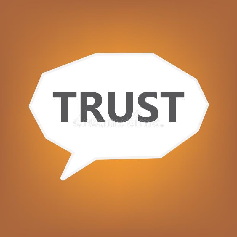 Confiance écrite sur la bulle de la parole illustration libre de droits
