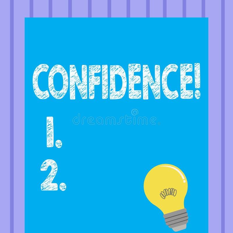 Confiance des textes d'écriture de Word Le concept d'affaires pour douter jamais jamais de votre valeur, inspirent et se transfor illustration de vecteur