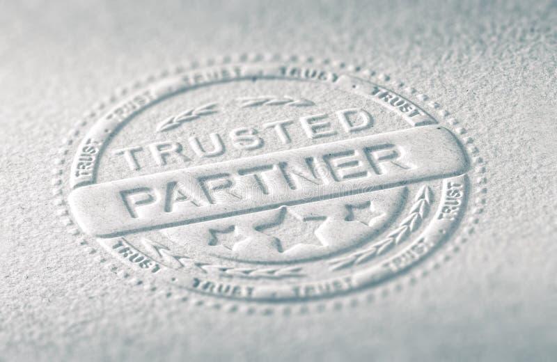 Confiance en affaires illustration stock