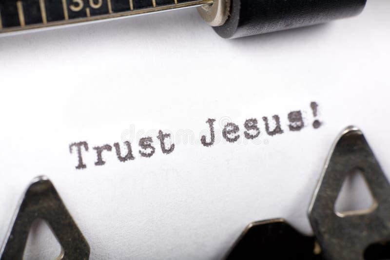 Confiance Jésus images stock