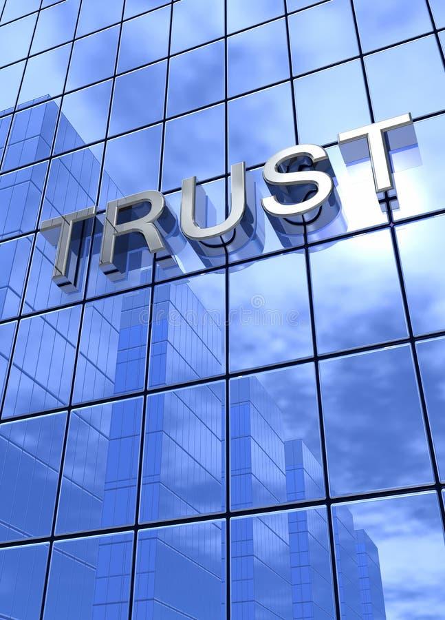 Confiance sur l'immeuble de bureaux illustration libre de droits