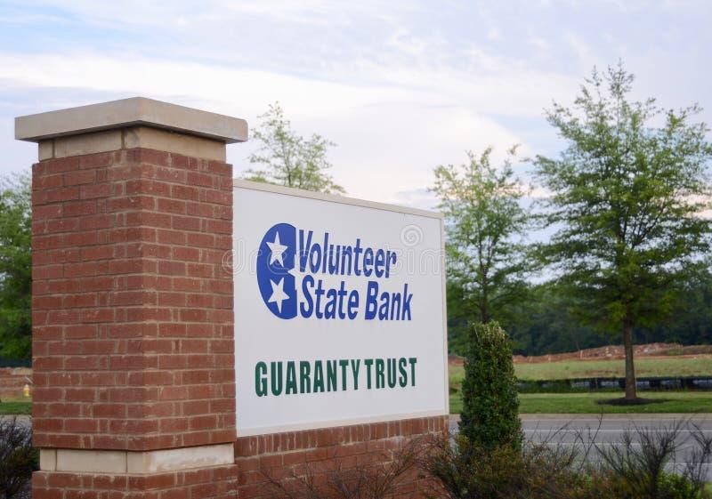 Confiance volontaire de garantie de banque d'Etat, Murfreesboro, TN photographie stock libre de droits