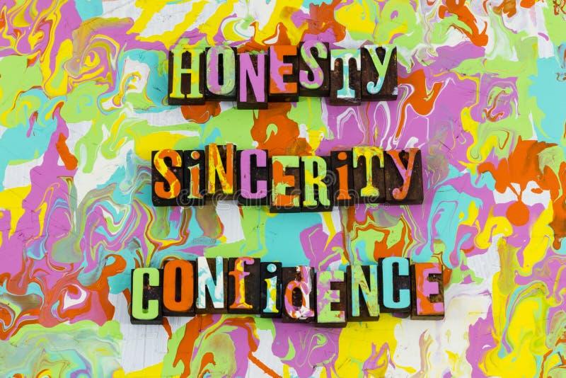 Confianza de la sinceridad de la honradez libre illustration