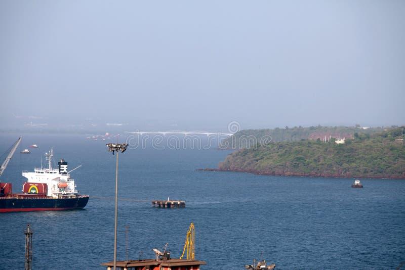 Confianza del puerto de Mormugao foto de archivo