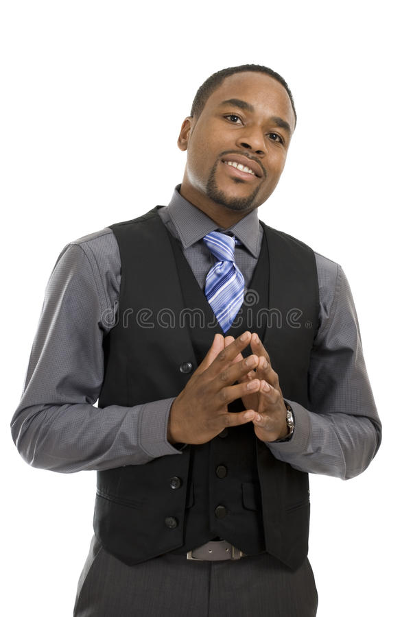 Confident african american business man stock photography