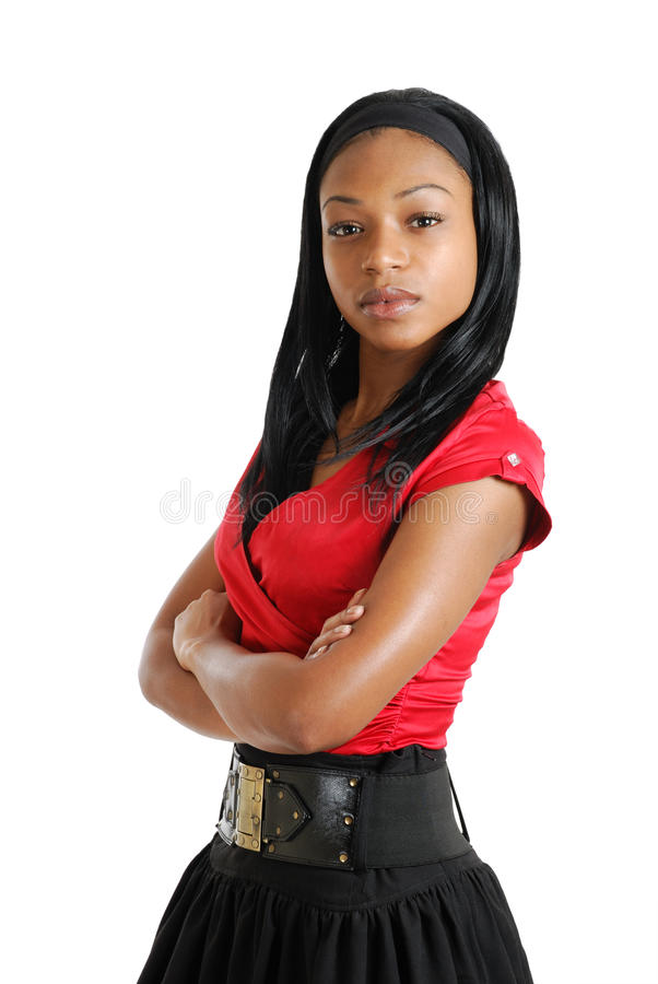Confident african american business woman stock images