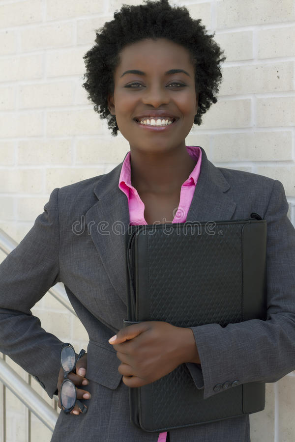 Confident African American Business woman royalty free stock images