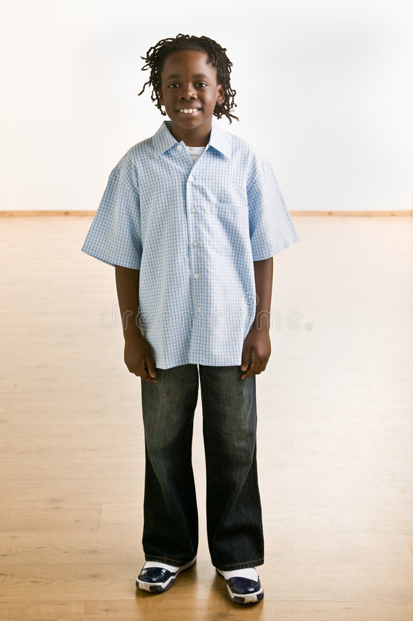 Confident African Boy Smiling Stock Photo