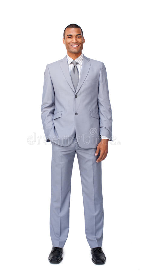 Confident Afro-american businessman standing royalty free stock photos