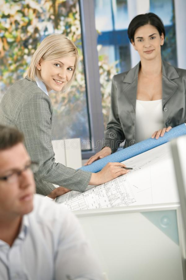 Confident architects at work stock photos