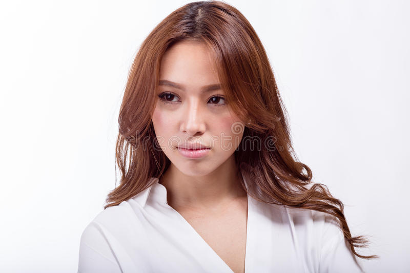Confident Asian American businesswoman royalty free stock photo
