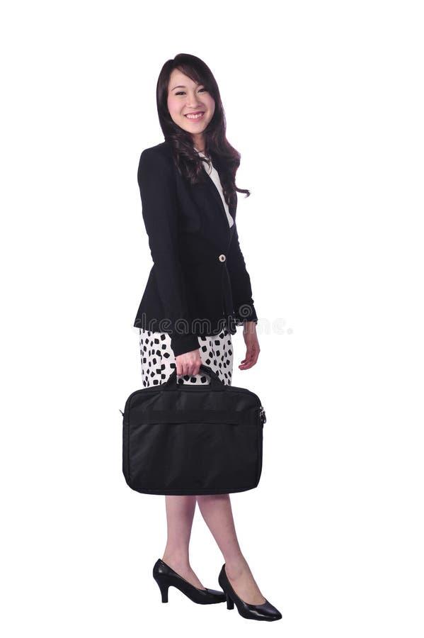 Confident Asian business woman, closeup portrait on white background. royalty free stock photos