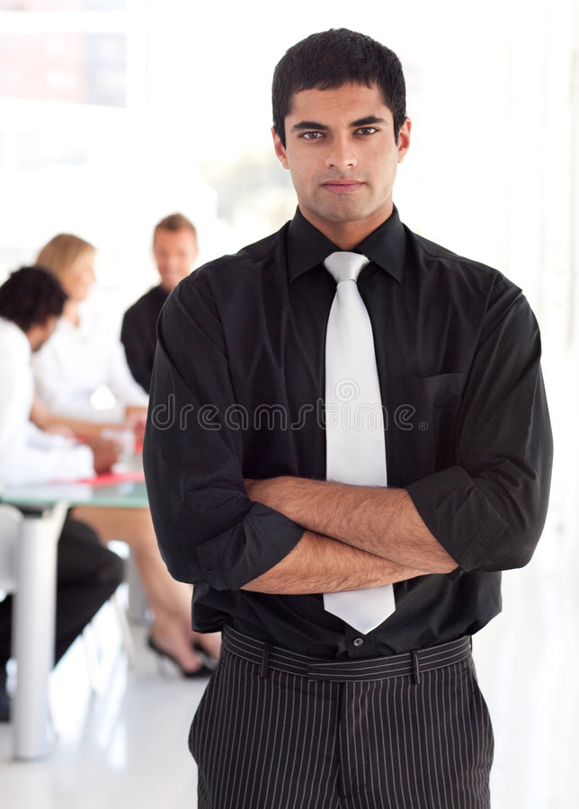 Confident and attractive business leader. Young Confident and attractive business leader royalty free stock photo