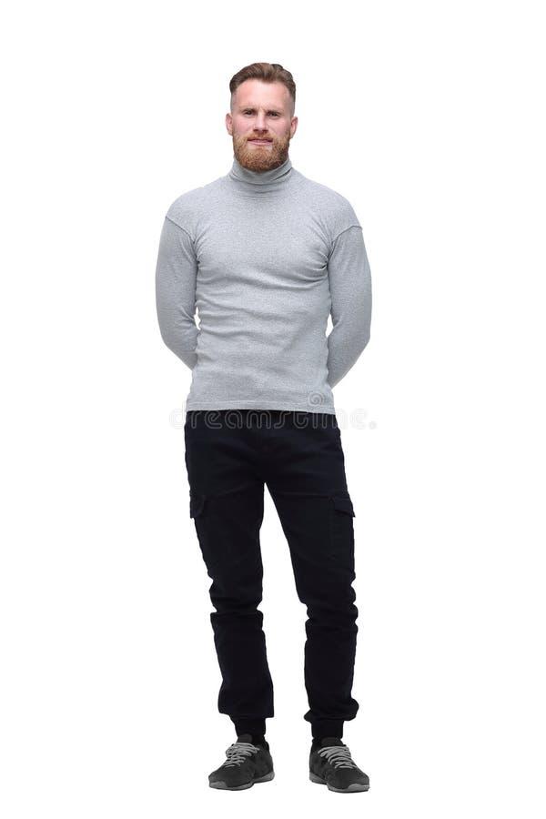 Confident bearded man . isolated on white background. royalty free stock image
