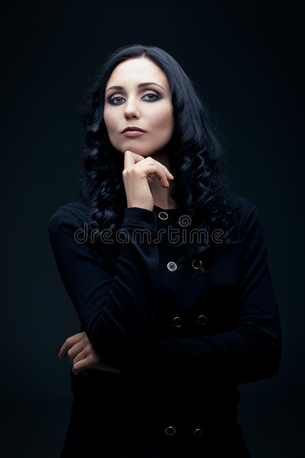 Download Confident brunette stock photo. Image of portrait, pretty - 23691658