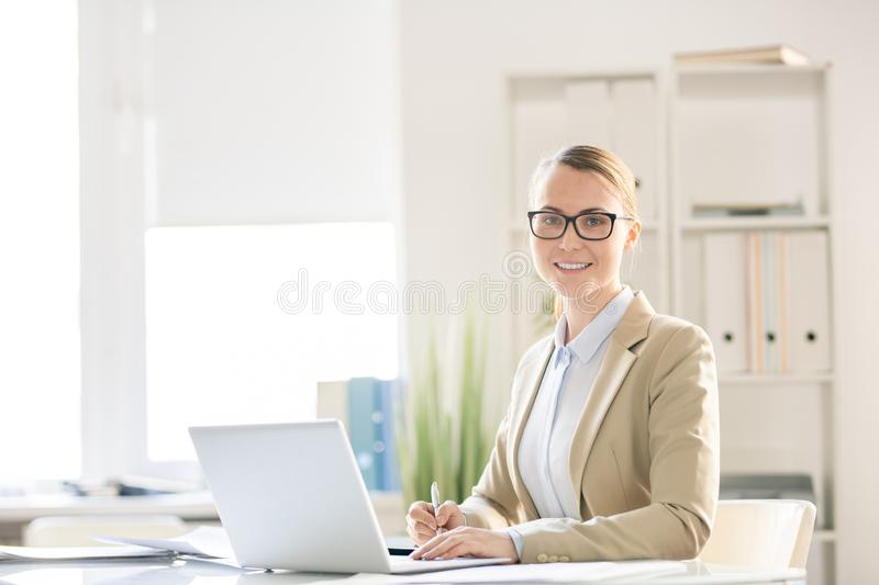 Confident business lady in office royalty free stock images