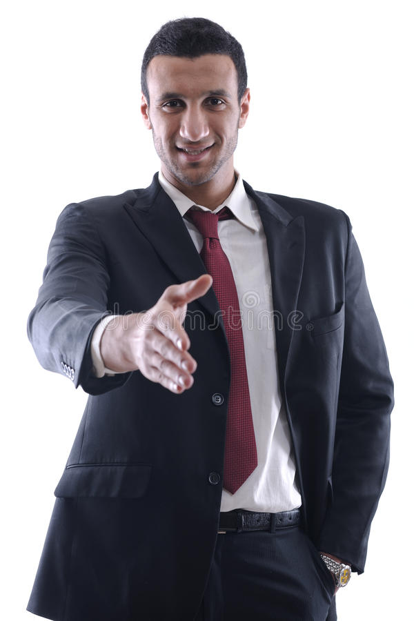 Download Confident Business Man Giving You A Hand Shake Stock Photos - Image: 23497843