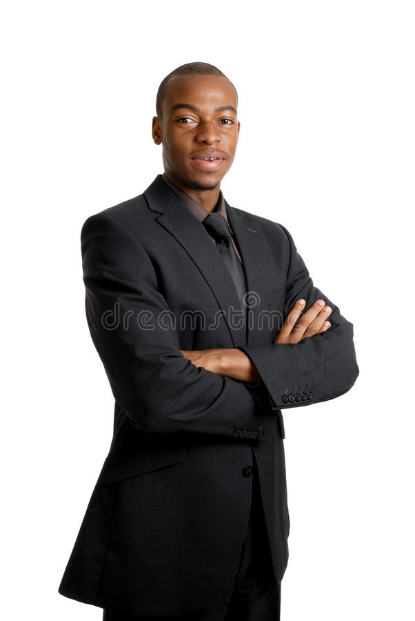 Confident business man smiling royalty free stock photos