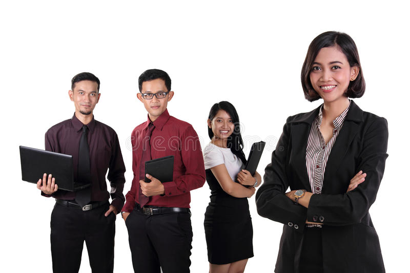 Confident business manager teams isolated stock image
